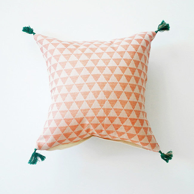 Alice Pink Pillow, square