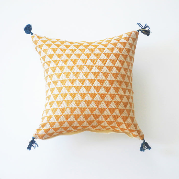 Alice Mustard Pillow, square, Pillow, Jamini, Collyer's Mansion - Collyer's Mansion
