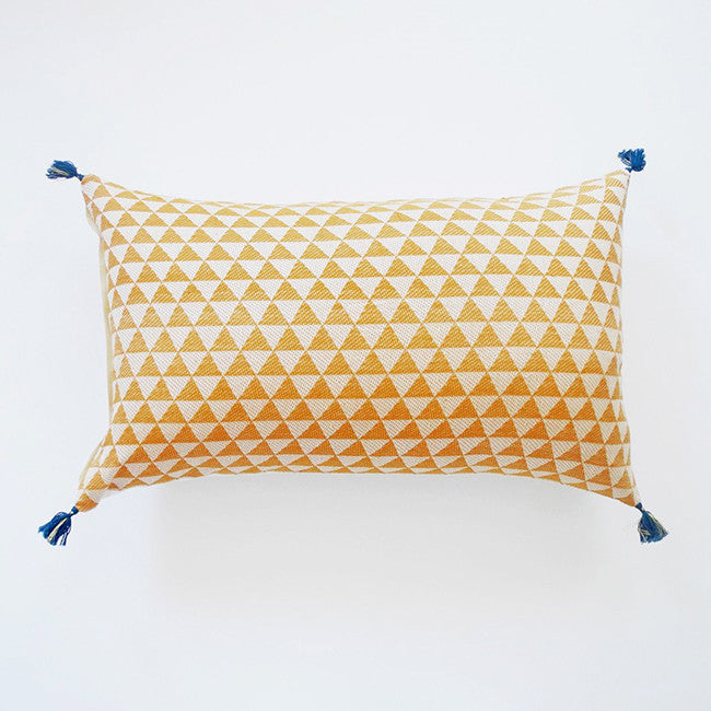 Alice Mustard Pillow, lumbar, Pillow, Jamini, Collyer's Mansion - Collyer's Mansion