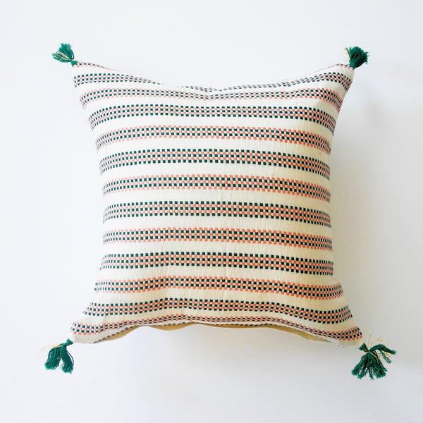 Amelie Pink and Green Pillow, square