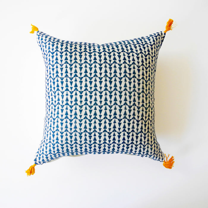 Ashu Duck Blue Pillow, square, Pillow, Jamini, Collyer's Mansion - Collyer's Mansion