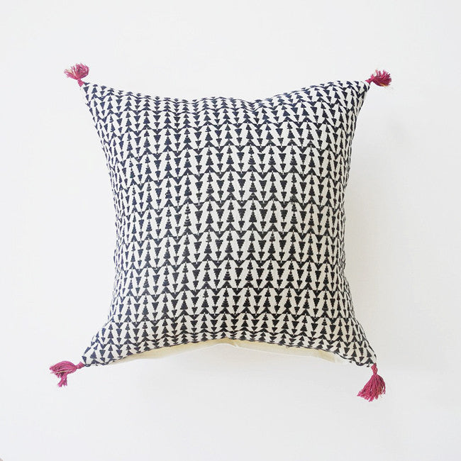 Ashu Charcoal Pillow, square, Pillow, Jamini, Collyer's Mansion - Collyer's Mansion
