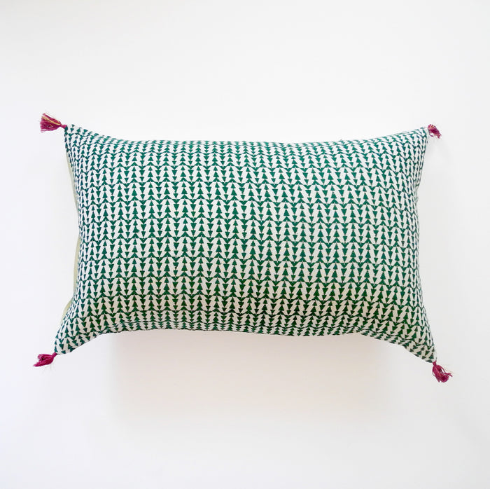 Ashu Green Pillow, lumbar