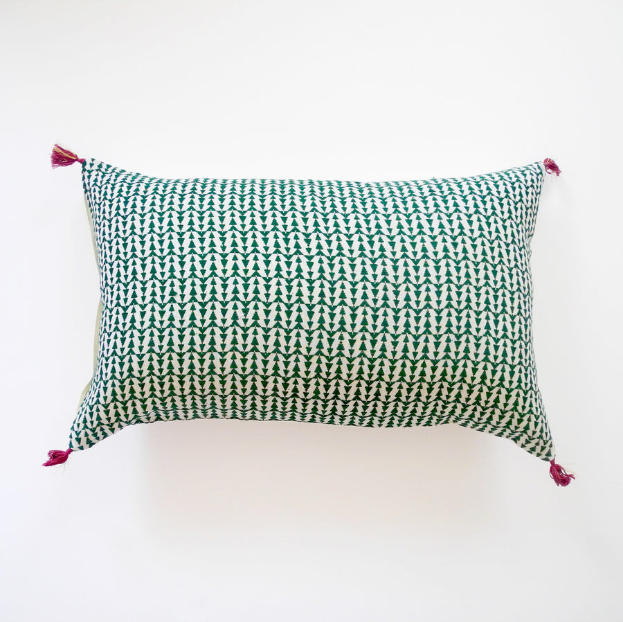Ashu Green Pillow, lumbar, Pillow, Jamini, Collyer's Mansion - Collyer's Mansion