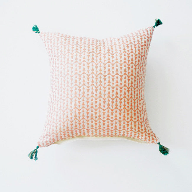 Ashu Pink Pillow, square, Pillow, Jamini, Collyer's Mansion - Collyer's Mansion