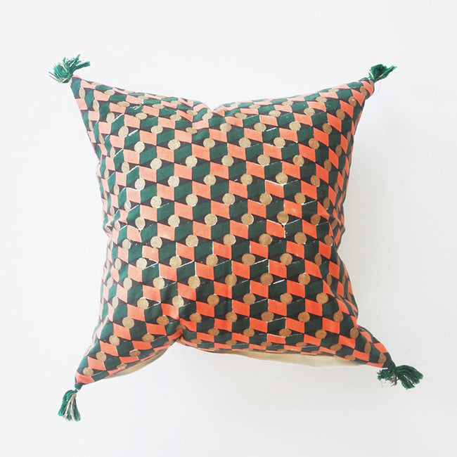 Daphne Pillow, square, Pillow, Jamini, Collyer's Mansion - Collyer's Mansion