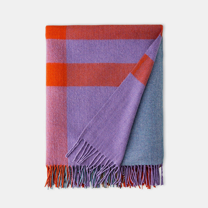 Coral Cashmere Blend Throw