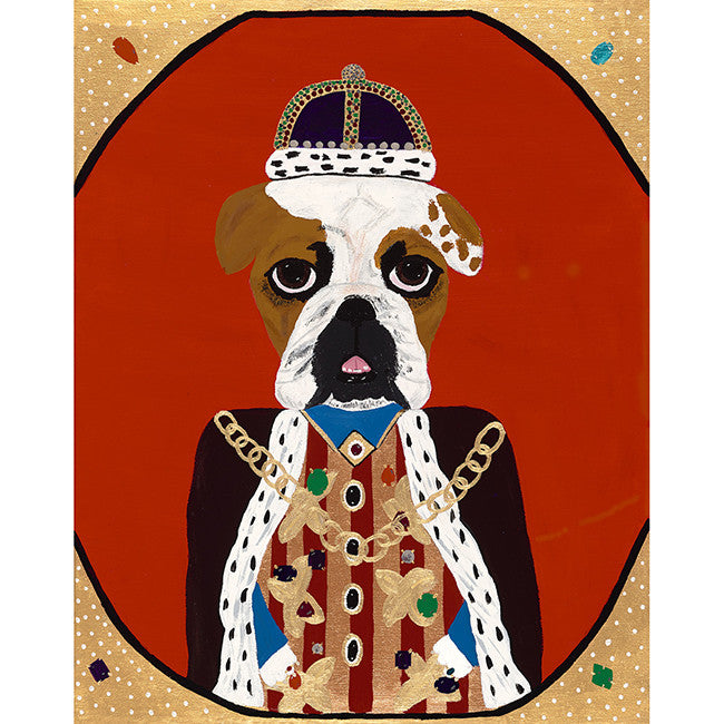 King Martinique from the Royal Pet Portrait Print Series, Art, Collyer's Mansion Collection, Collyer's Mansion - Collyer's Mansion