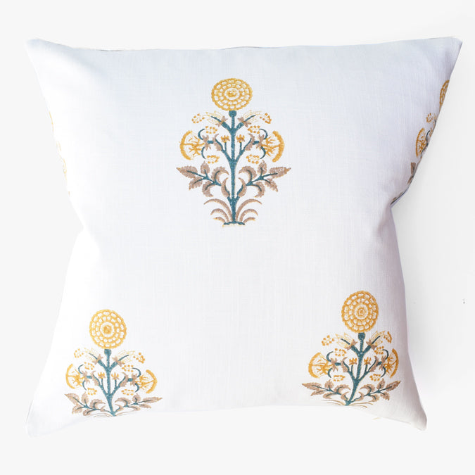 Gold Kusum Pillow, square