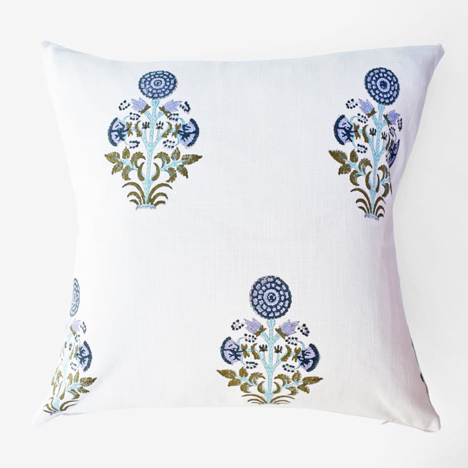 Periwinkle Kusum Pillow, square