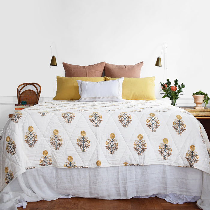 Kusum Gold Quilt, twin or queen