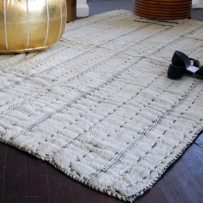 "Linen Rug, 4'2"" x 6'6"", Rug, Cote Pierre, Collyer's Mansion - Collyer's Mansion"