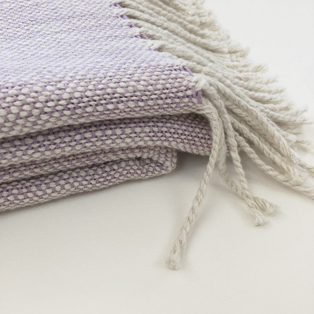 Cotton Throw, lilac