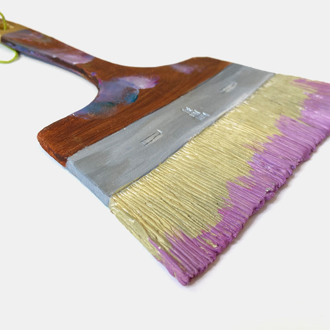 Clay Large Flat Paintbrush Wall Art II