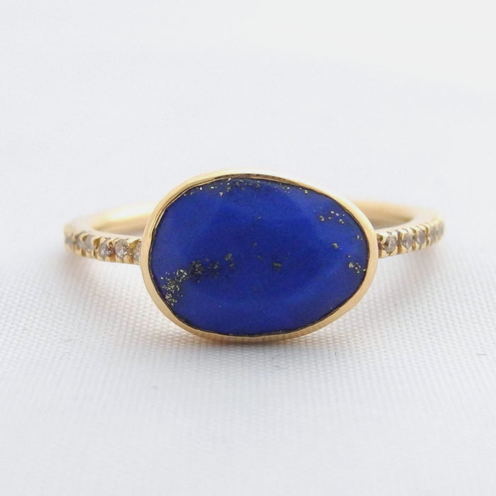 Lapis Ring with White Diamonds, Ring, Liz Phillips, Collyer's Mansion - Collyer's Mansion