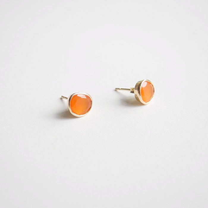 Carnelian Studs, Earrings, Liz Phillips, Collyer's Mansion - Collyer's Mansion