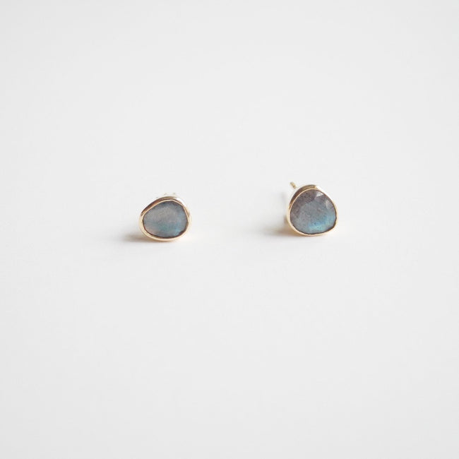 Labradorite Studs, Earrings, Liz Phillips, Collyer's Mansion - Collyer's Mansion