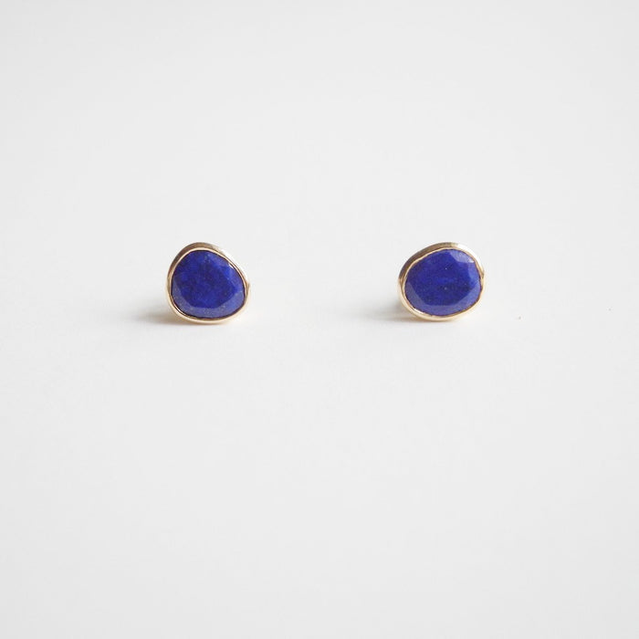 Lapis Studs, Earrings, Liz Phillips, Collyer's Mansion - Collyer's Mansion