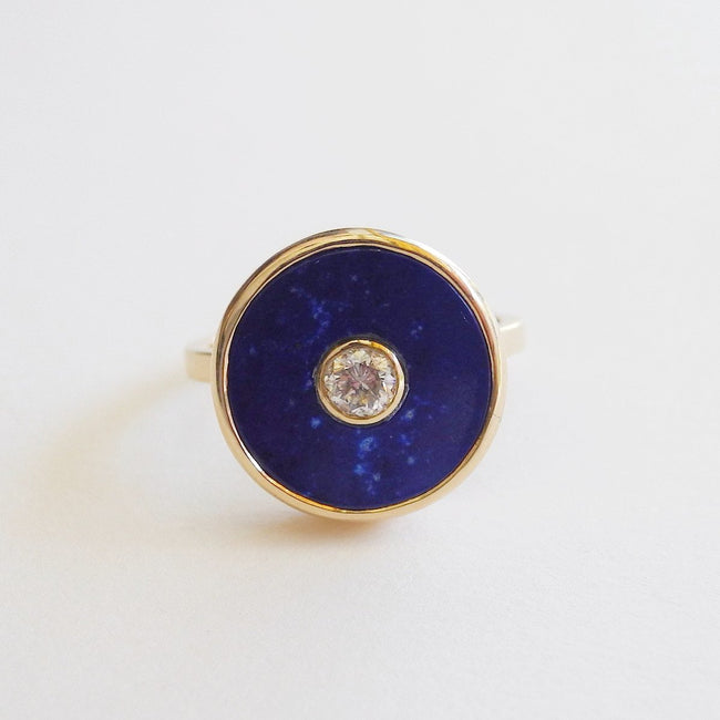 Diamond and Lapis Europa Ring, Ring, Liz Phillips, Collyer's Mansion - Collyer's Mansion