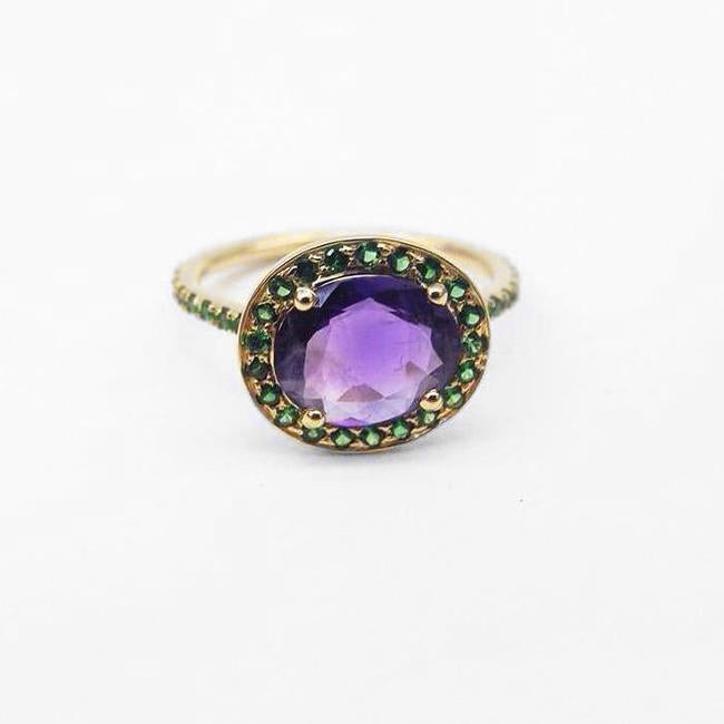 Amethyst Delilah Ring, Ring, Liz Phillips, Collyer's Mansion - Collyer's Mansion
