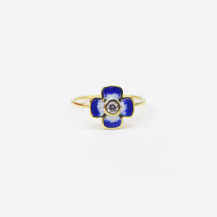 Blue Enamel and Diamond Ring, Ring, Liz Phillips, Collyer's Mansion - Collyer's Mansion