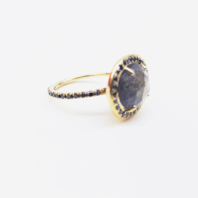 Labradorite Delilah Ring, Ring, Liz Phillips, Collyer's Mansion - Collyer's Mansion
