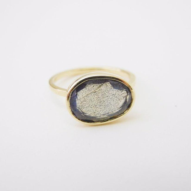 Labradorite Ring, Ring, Liz Phillips, Collyer's Mansion - Collyer's Mansion
