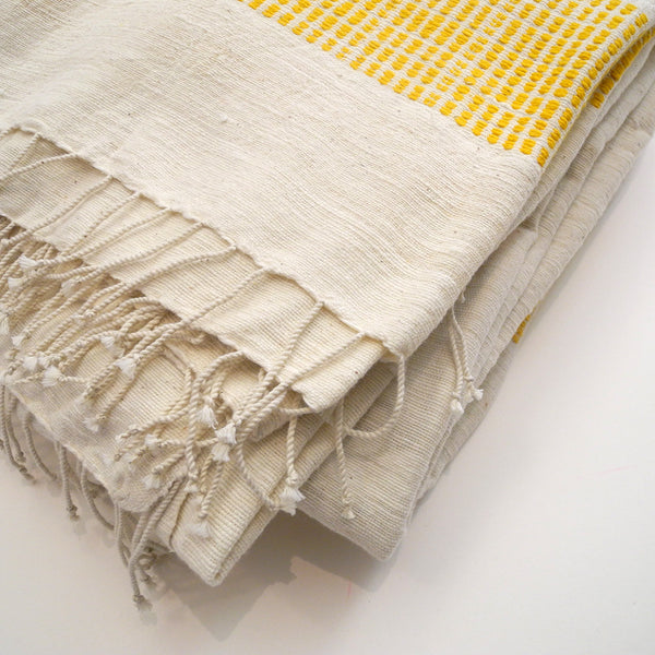 Lightweight Blanket, gold dots