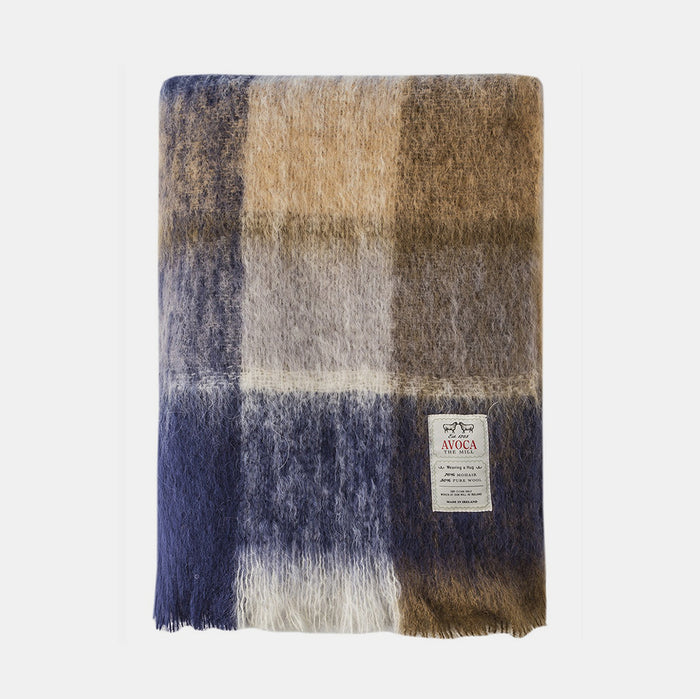 Land Plaid Mohair Throw