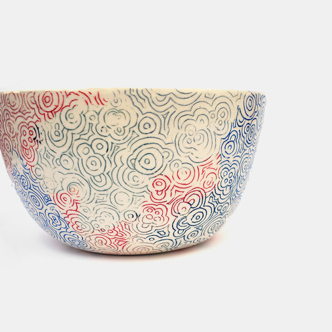 Multicolor Ceramic Serving Bowl