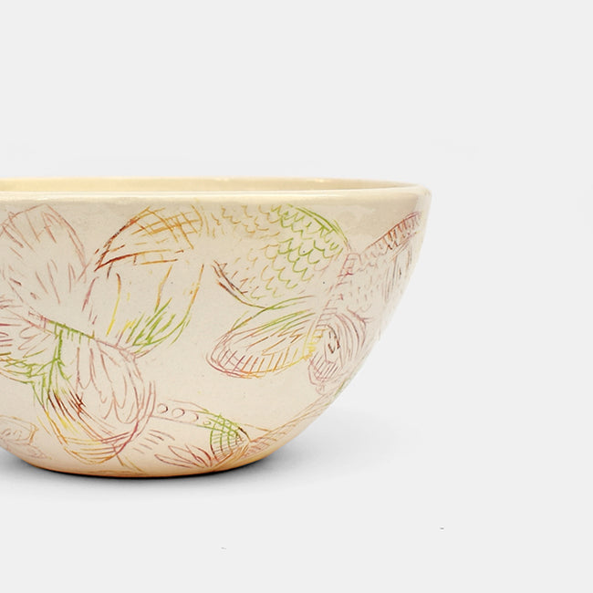 Butterfly Ceramic Serving Bowl