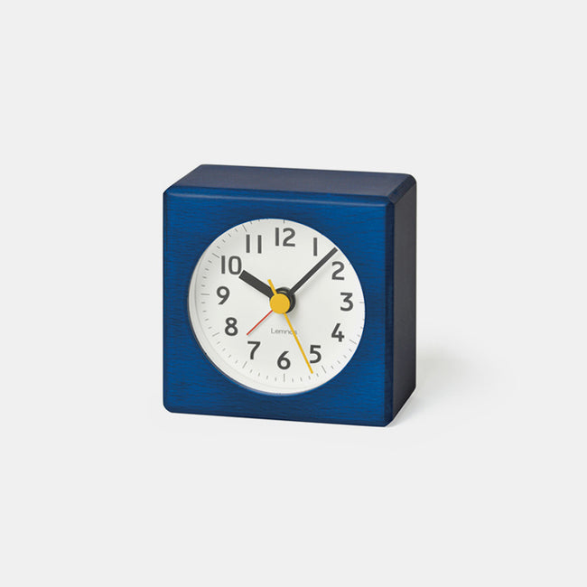 Blue Japanese Clock by Lemnos in the Fabre Alarm Clock style for your bedside table - Collyer's Mansion