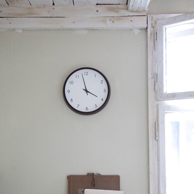 Campagne Wall Clock in Beech Wood