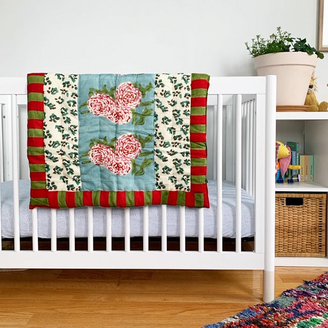 Leopard Stripes Sky Quilt, baby
