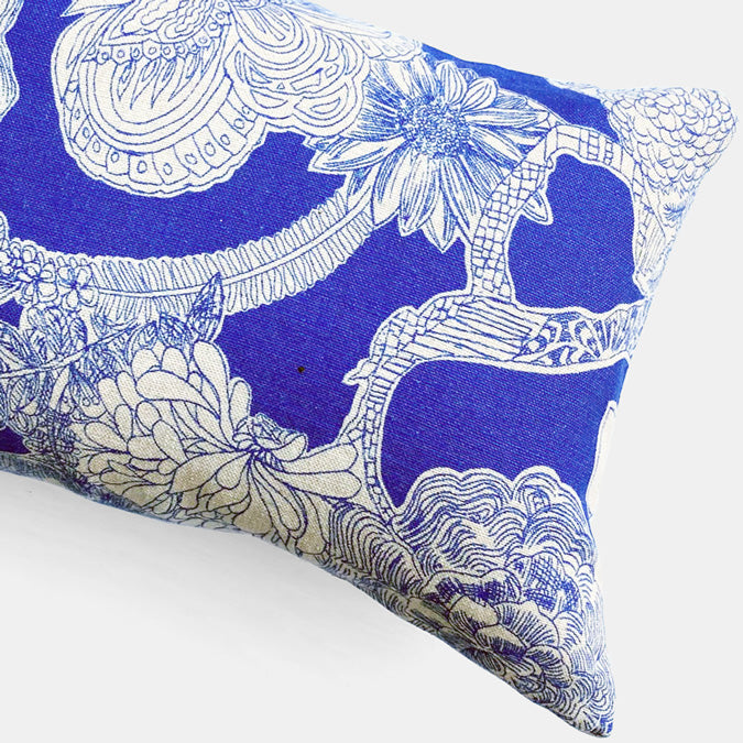 Liberty Zennor Lapis Pillow, lumbar
