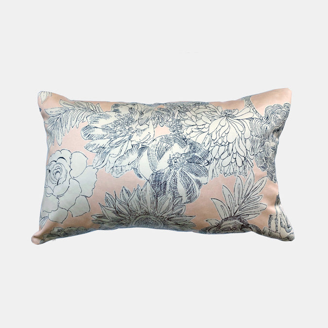 Liberty Zennor Pink Sateen Pillow, lumbar
