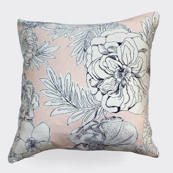 Liberty Zennor Pink Sateen Pillow, square