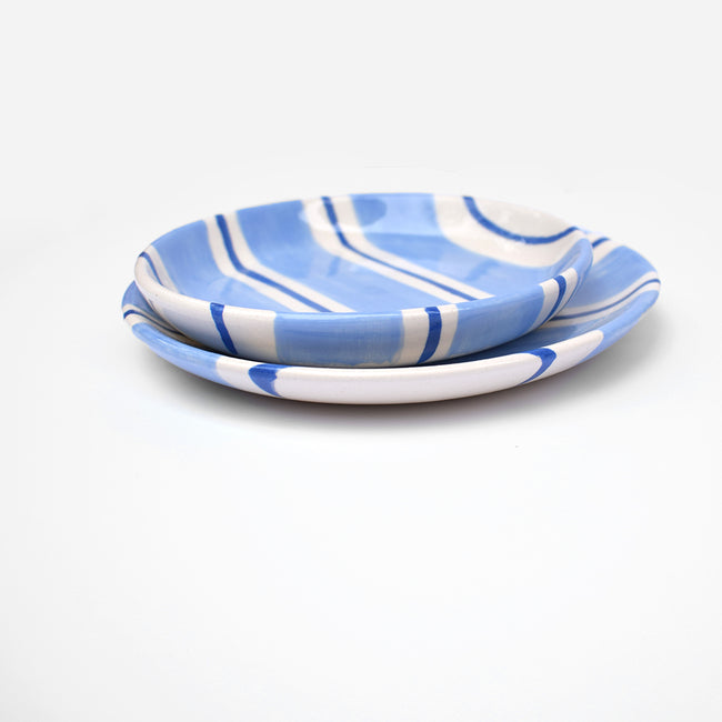 Light Blue Stripe Dish