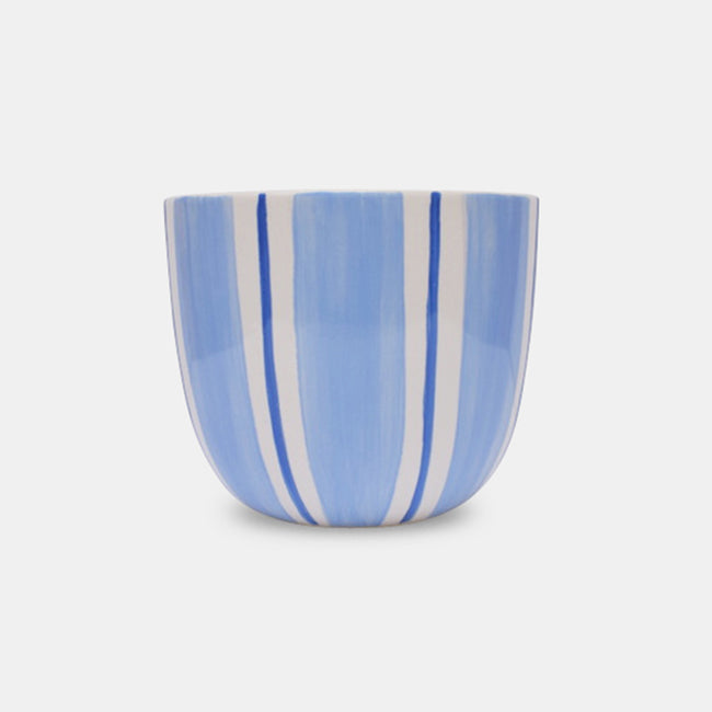 Light Blue Stripe Planter