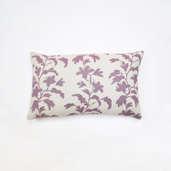 Colorful lilac vine pillow to mix with other pillows for colorful home decor - Collyer's Mansion