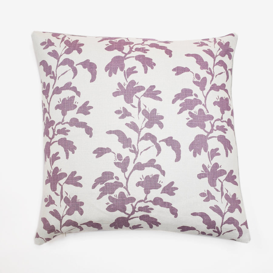 Lilac Vine Pillow, square