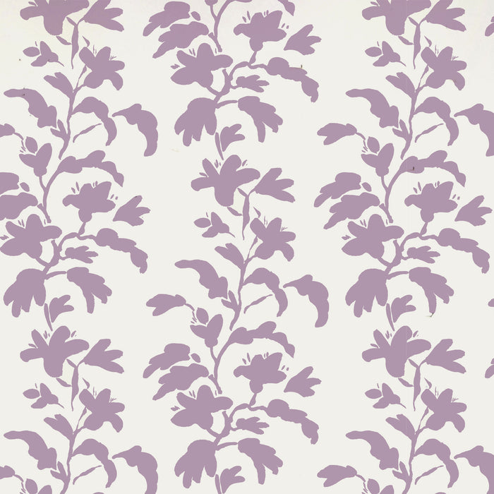 Lilac and white vine wallpaper in removable wallpaper and traditional wallpaper with purple plants and lavender stems - Collyer's Mansion