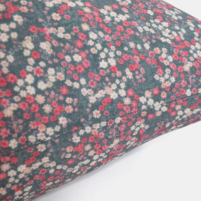 Linen Euro Pillowcase, winter flower