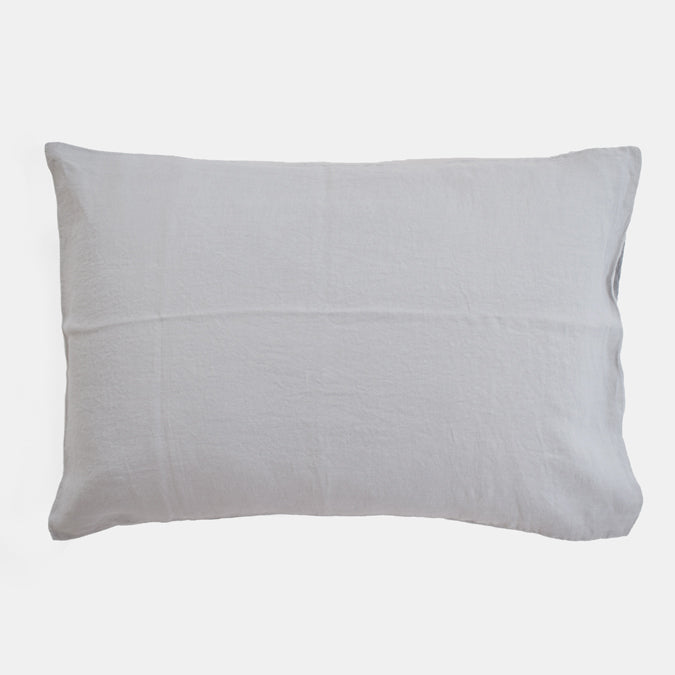 Linen Standard Pillowcase, cloud grey