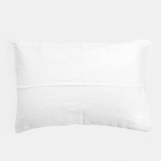Linen Standard Pillowcase, off white