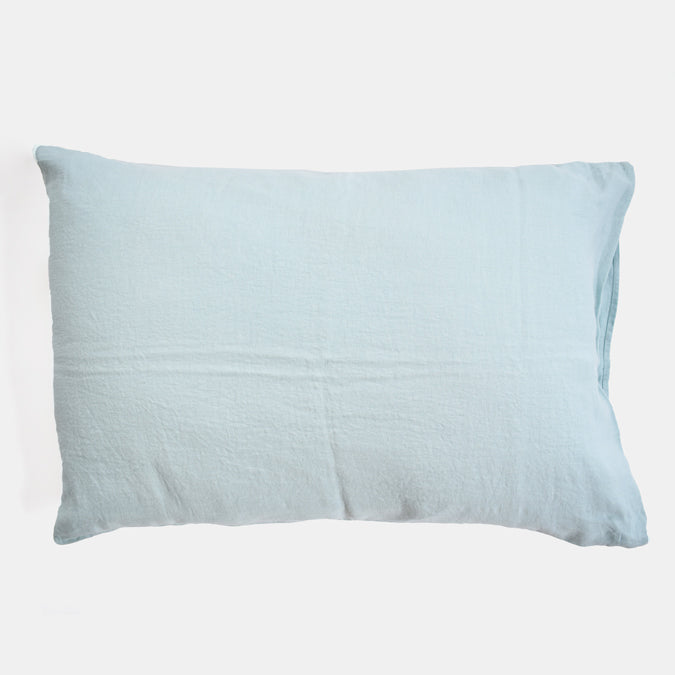 Linen Standard Pillowcase, pale blue
