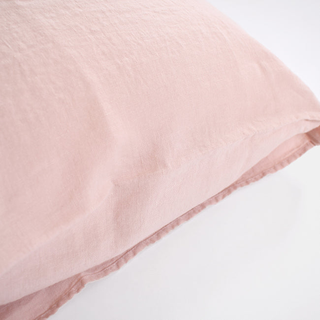 Linen Euro Pillowcase, pale pink