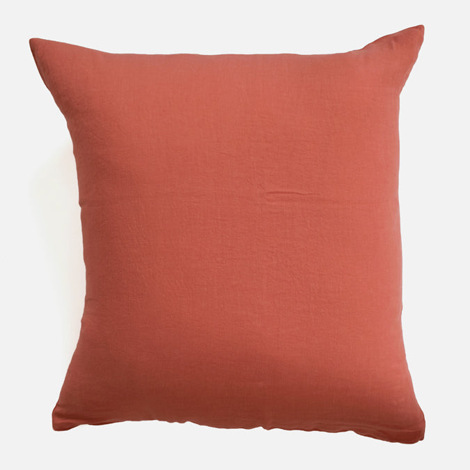 Linen Euro Pillowcase, terracotta