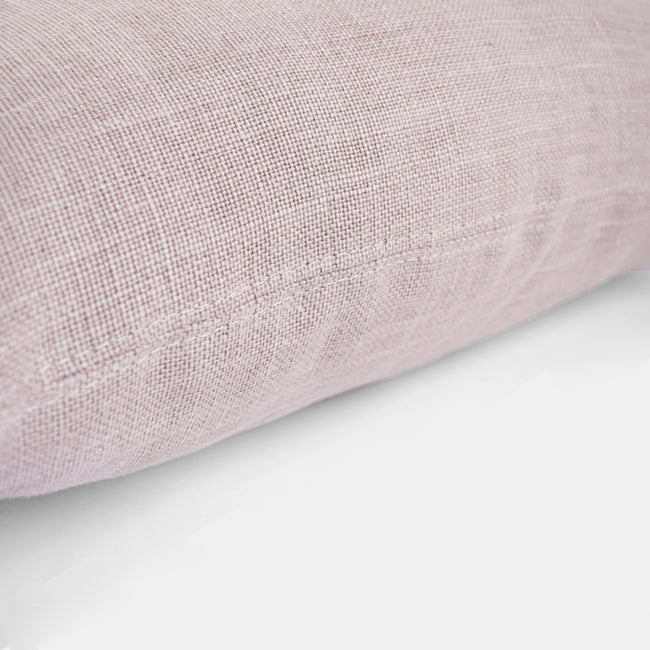 Old Rose Belgian Linen Pillow, lumbar