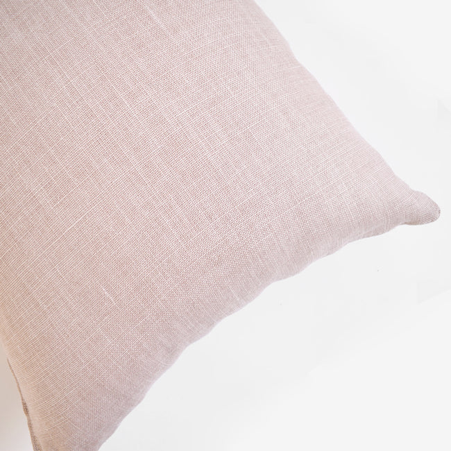 Old Rose Belgian Linen Pillow, square